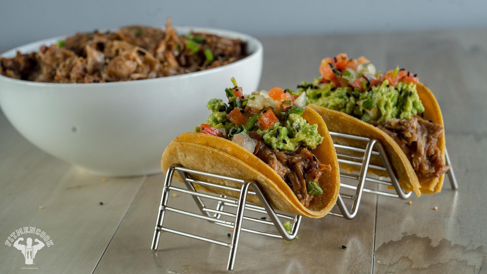 Slow Cooker Vegan Bulgogi Tacos Recipe - Fit Men Cook