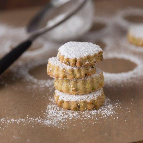 Pistachio Rosewater Cookies