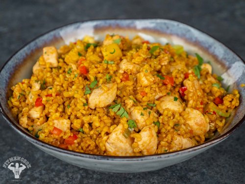 Pineapple Chicken Fried Rice With Turmeric - Fit Men Cook