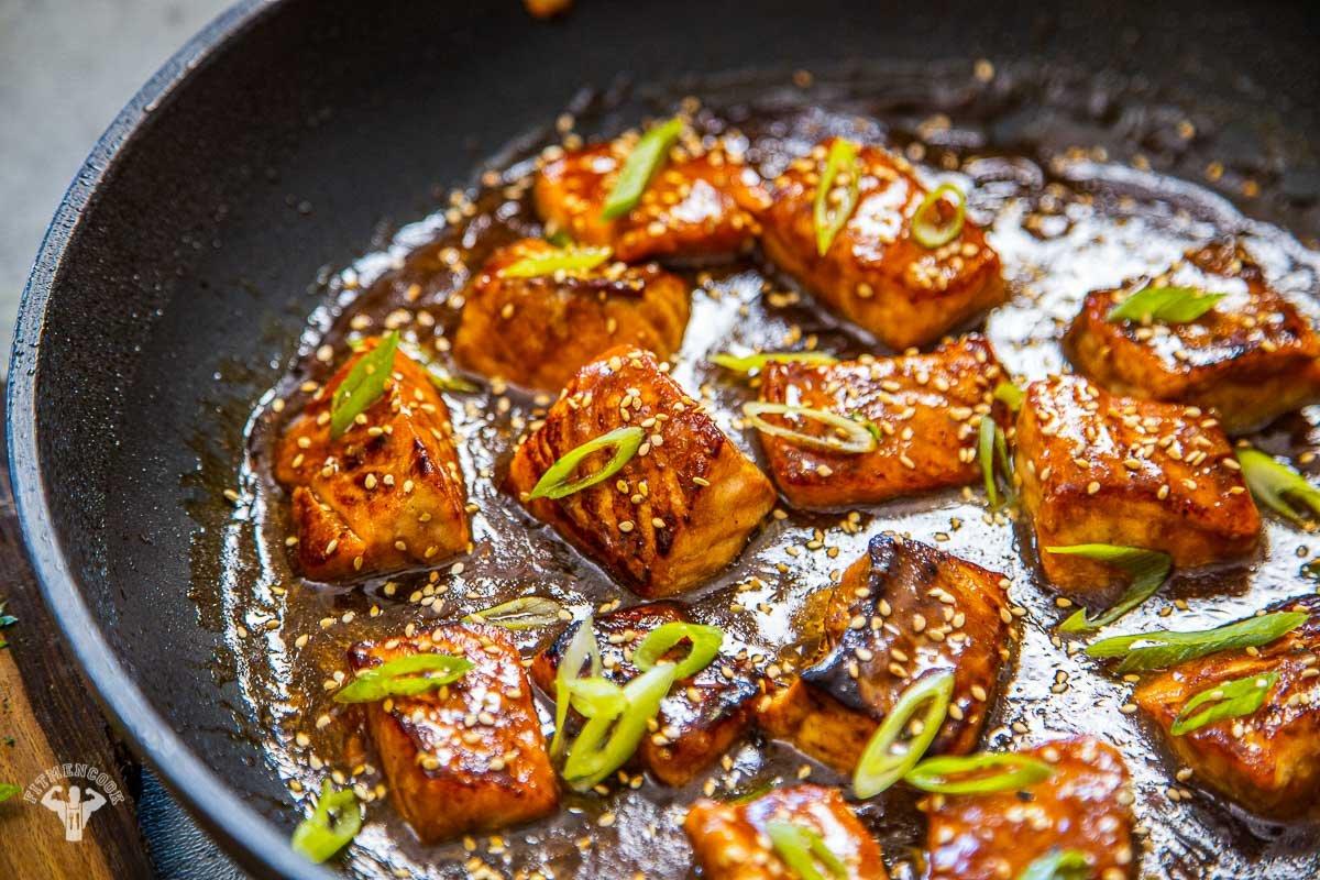 Apricot Ginger Salmon Bowl Recipe - Fit Men Cook