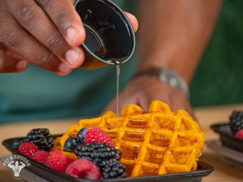 Easy 10-Min Healthy Pumpkin Waffles Recipe - Fit Men Cook