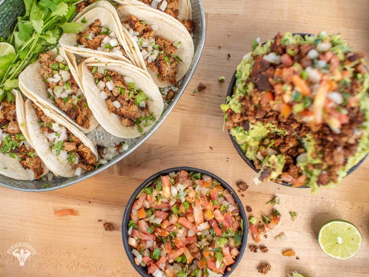 Best Low Carb Street Vegan Tacos Recipe - Fit Men Cook