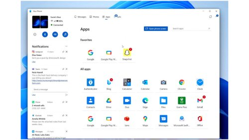 Windows 11: Neue Your Phone-App gibt Überblick über Handy-Benachrichtigungen