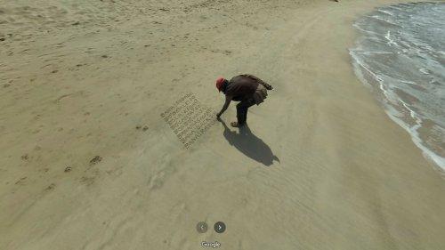 Google Maps: Das Netz rätselt über mysteriöse Nachricht im Sand