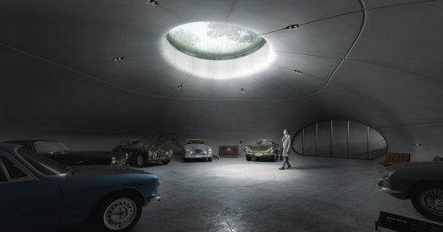 Subterranean garage designed to keep classic cars in top condition