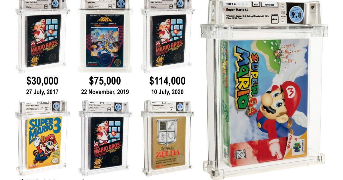 World auction record price for video games smashed twice in three days