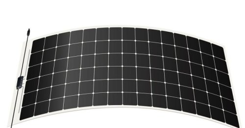 Frameless solar panels can be stuck directly to rooftops