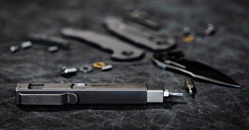 Pen-size titanium multitool takes care of EDC screwdriver needs