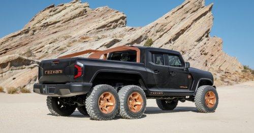 1,300-hp Hercules 6x6 pickup flexes big, bonkers off-road muscles