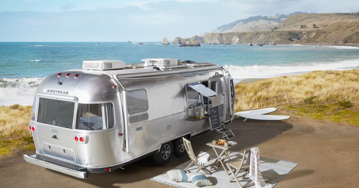 Airstream taps Pottery Barn to glamplify its silver bullet camper