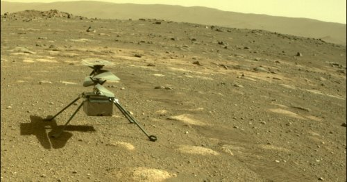 Ingenuity robotic helicopter survives its first Martian night