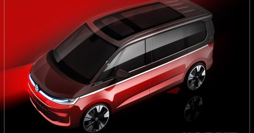 Volkswagen gives a better look at sleek, glassy T7 van ahead of debut