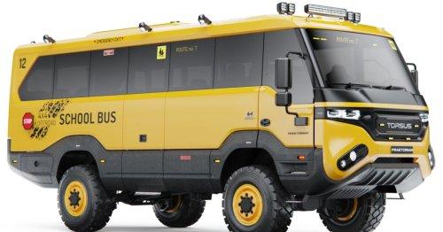 Torsus debuts world's most extreme big yellow school bus