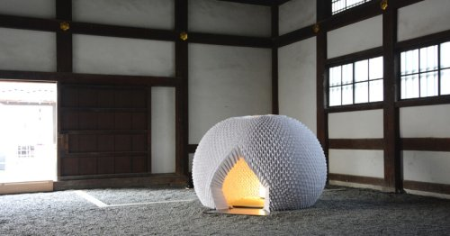 Shi-An: A Japanese origami tea house made entirely out of paper