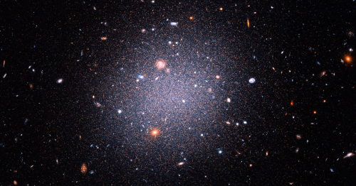 The light galaxy at the heart of a dark dispute