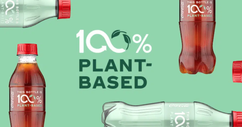 Coca Cola launches a bottle made from 100% plant-based plastic