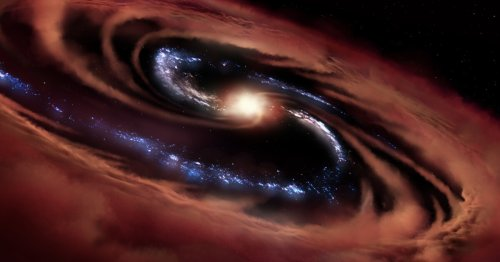 Starbirth in spite of feasting black hole prompts galaxy evolution rethink