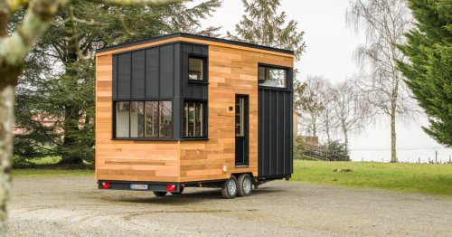 Five people and a cat can squeeze into this compact tiny house