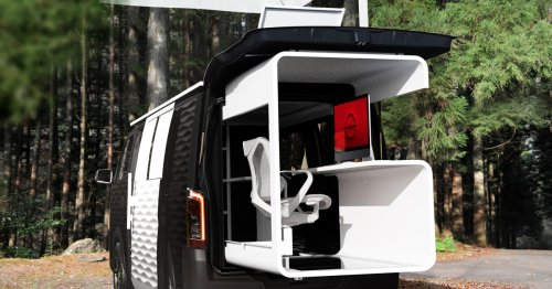 Nissan concept van supports digital nomads with open-air office pod