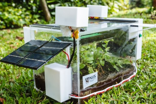 Self-contained SmartFarm grows plants using water drawn from the air