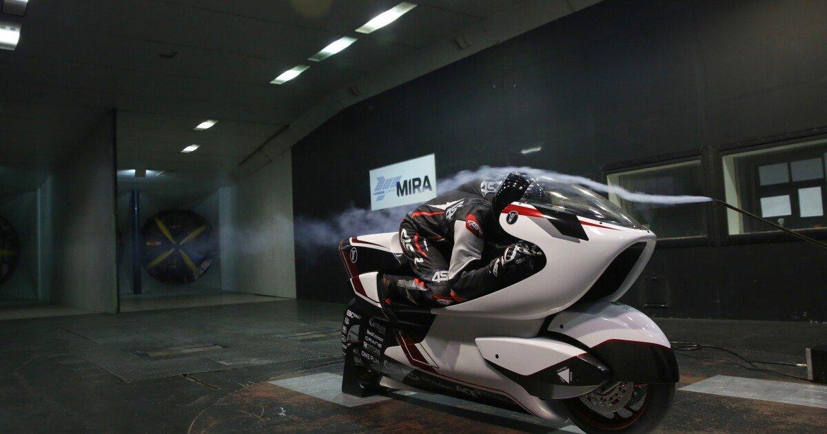 """World's fastest electric motorcycle"" uses radical big hole technology"