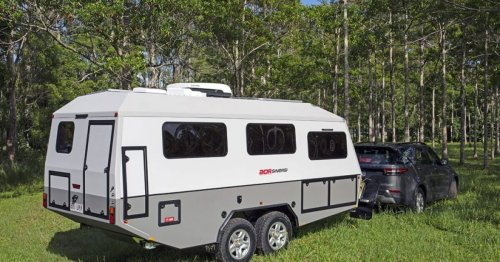 Sinergi off-road camper tows modern living through the rugged Outback