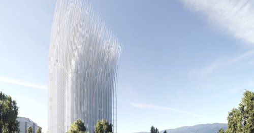 Unusual tower catches the breeze to light up Silicon Valley