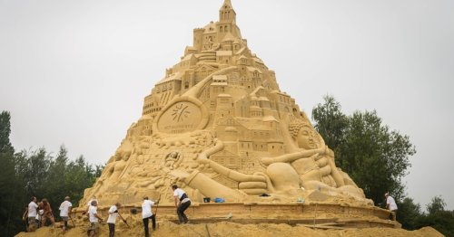 World's tallest sandcastle reaches for the sky in Germany