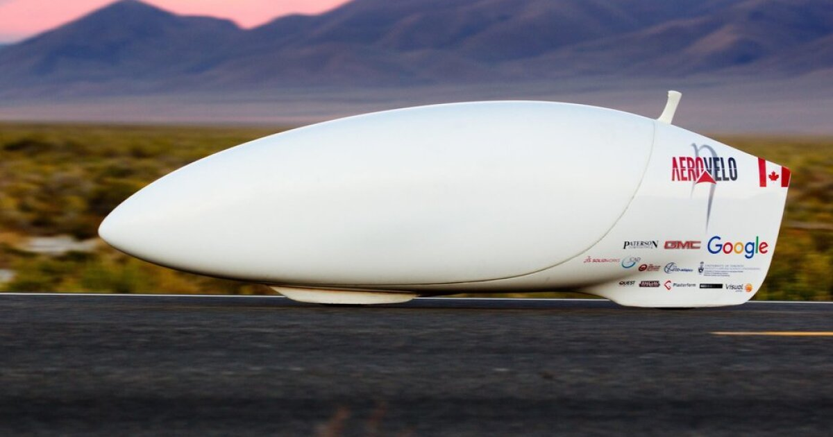 Aerovelo tops human-powered speed record with 89.59 mph bullet bike