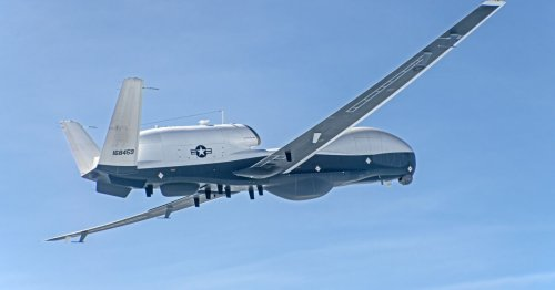 Multi-intelligence version of the MQ-4C drone flies first time