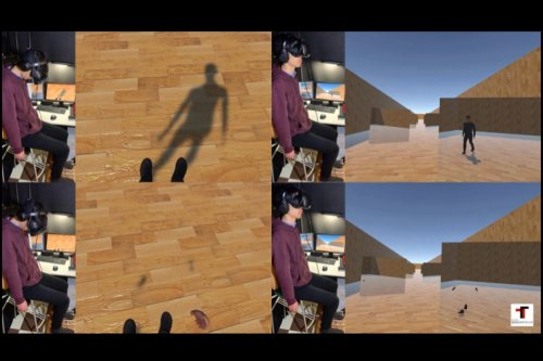 Simple foot-buzzing tech simulates the feel of walking in VR worlds