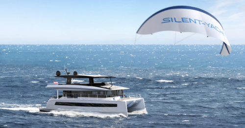 Silent Yachts adds a kite wing to its solar electric catamaran