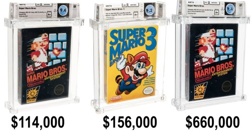 Video game collectibles begin smashing auction records