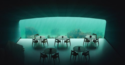 Europe's first underwater restaurant offers views of the seabed