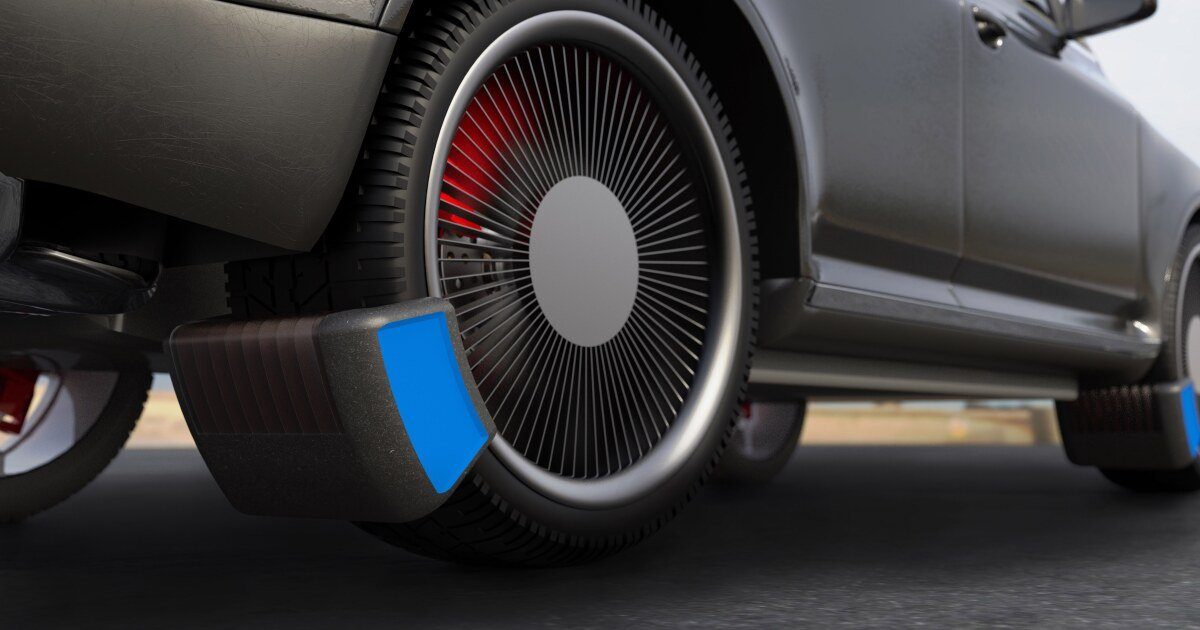 Prototype device gathers microplastics from car tires