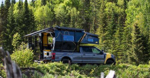 Modular camper pod makes F-150 or Cybertruck a 4-season adventure rig