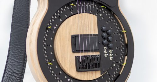 Spinning string picker gives Circle Guitar a sound all its own