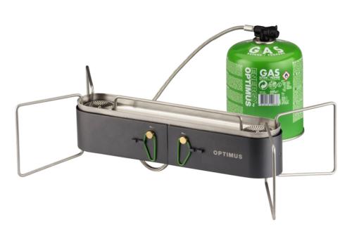 Ultra-sleek Optimus dual-burner stove feeds van life and trail life