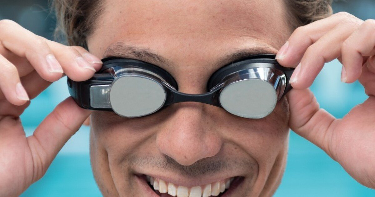 HUD swim goggles put performance data in your face