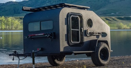 Solar-powered off-road teardrop trades propane for electric camping