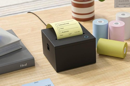 Alexa-enabled sticky note printer churns out user-dictated reminders
