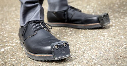 """Seeing-eye shoes"" for the blind to be enhanced with onboard cameras"