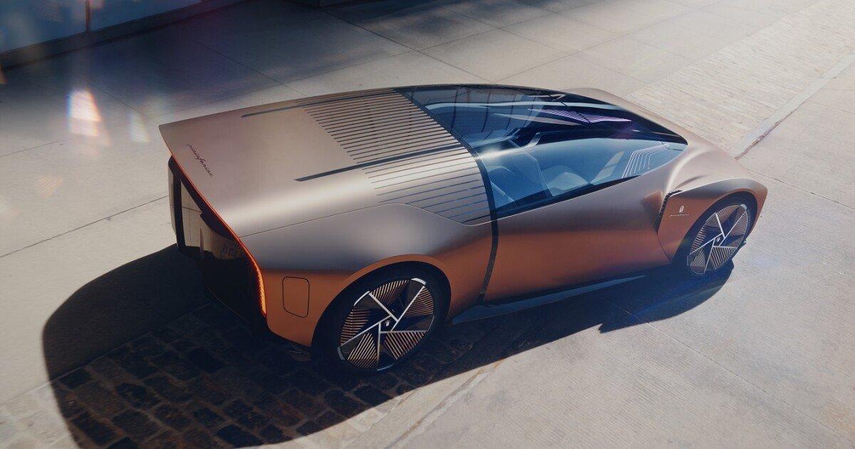 Bullet-like Pininfarina concept car reshapes electric driving