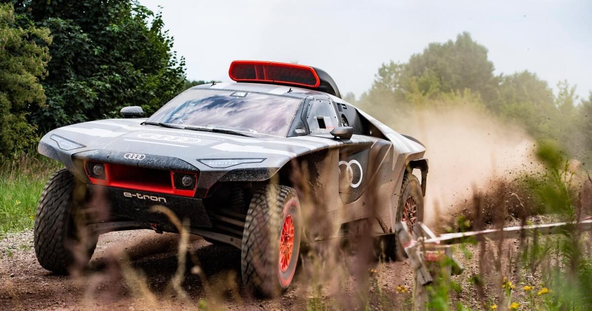 Electrified Audi RS Q e-tron rally car prepares to disrupt Dakar