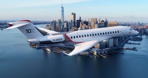 Dassault unveils Falcon 10X business jet with world's largest cabin