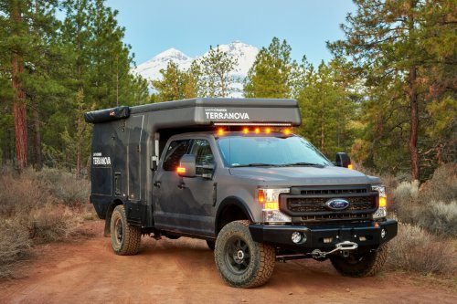 EarthCruiser Ford F-350 pop-top camper adapts to the modern explorer