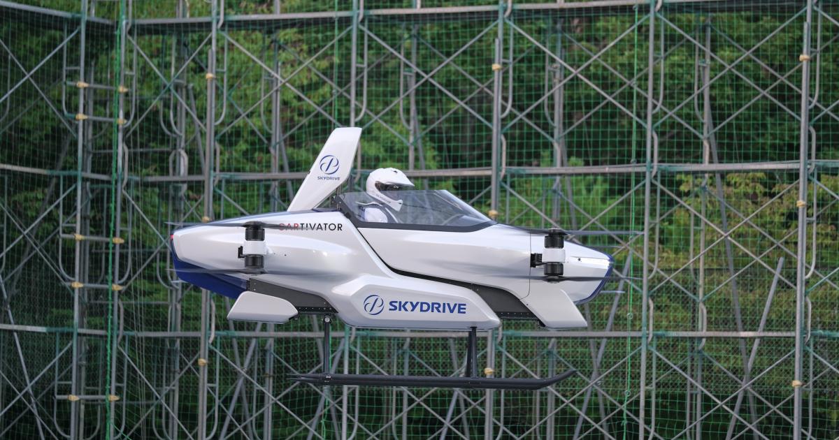 SkyDrive's SD-03 single-seat eVTOL aces first public test flight