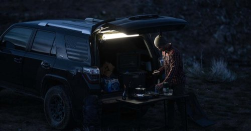Inflatable light tube adds versatility to tent and RV camping