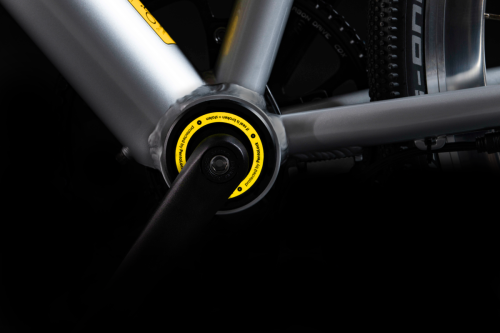 Electronically lockable bottom bracket renders bikes unrideable