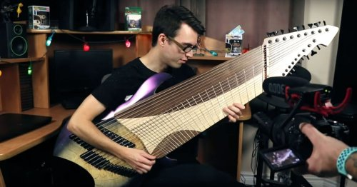 Multiscale mayhem breaks out on Djentar 20 string guitar